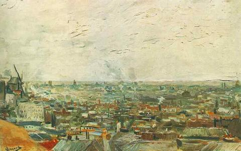 Early Years - View of Paris from Montmartre - 1886 Famous People Geography Visual Arts Nineteenth Century Life Tragedies and Triumphs