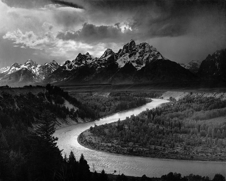 Ansel Adams - Grand Tetons and Snake River