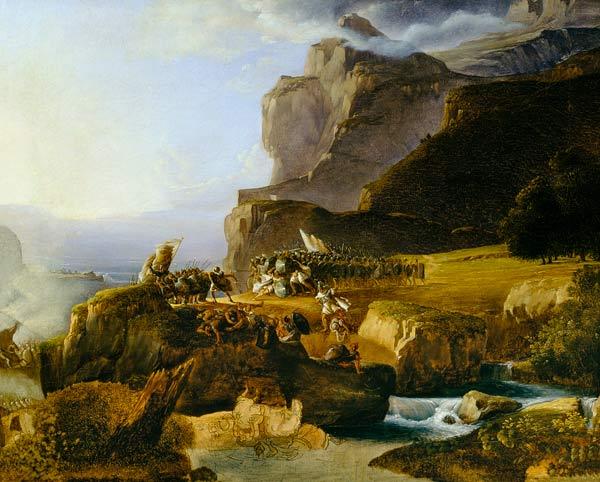 Battle of Thermopylae by Massimo d'Azeglio