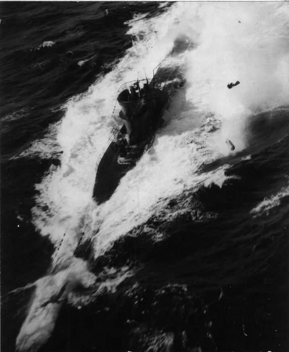 German U-Boat under Attack