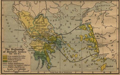 Map of Ancient Greece Ancient Places and/or Civilizations Famous Historical Events Social Studies Geography