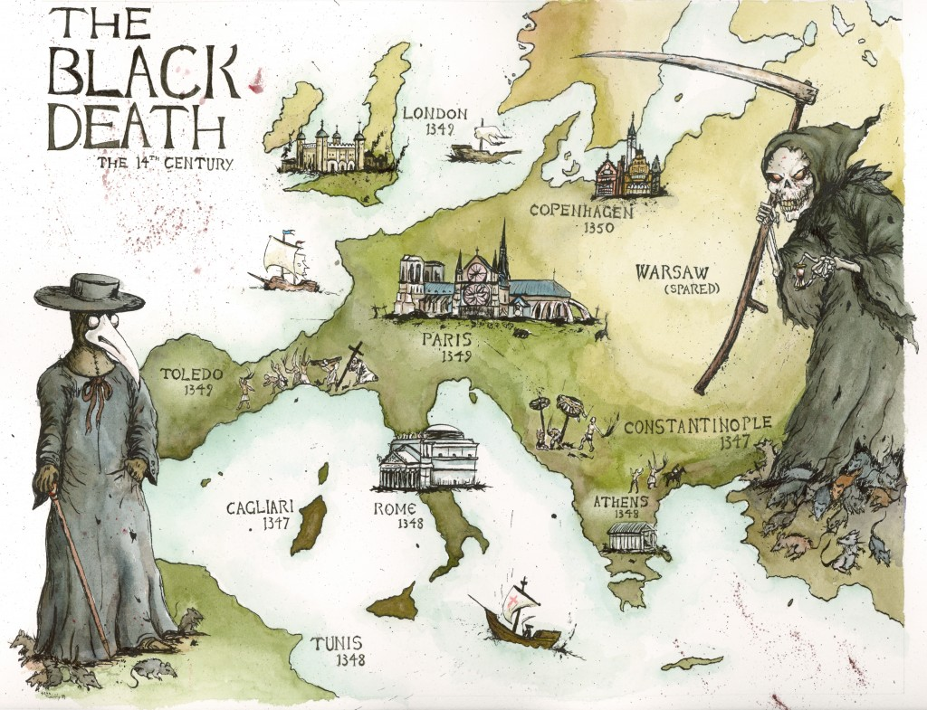 overview of the black death 3 cases of human plague are reported in new mexico what is this illness in the  1300s, science does little to prevent, diagnose or treat.