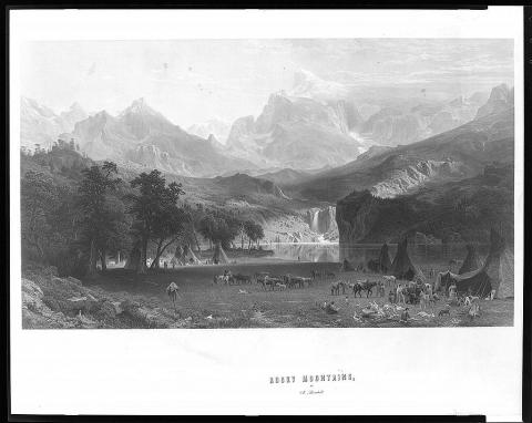 Rocky Mountains - by Albert Bierstadt Native-Americans and First Peoples  Ancient Places and/or Civilizations Geography Social Studies Visual Arts Nineteenth Century Life