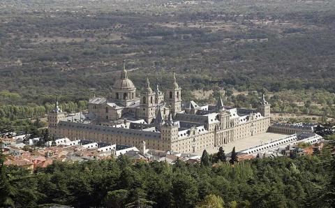 Aerial View of El Escorial Palace Geography Social Studies World History Tragedies and Triumphs