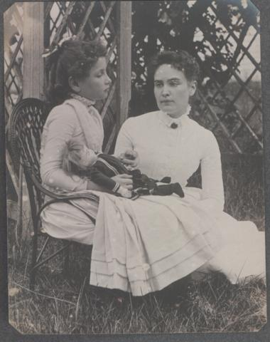 Helen Keller and Anne Sullivan at Cape Cod