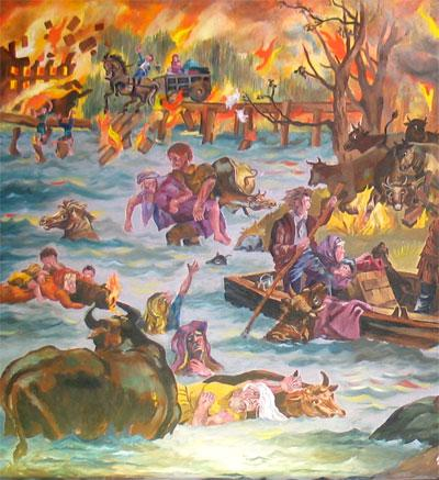 PESHTIGO SURVIVORS (Illustration) American History Famous Historical Events Social Studies STEM Tragedies and Triumphs Awesome Radio - Narrated Stories Nineteenth Century Life Disasters