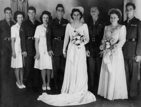John and Lena Basilone - Wedding Photo Visual Arts American History Biographies Social Studies World War II