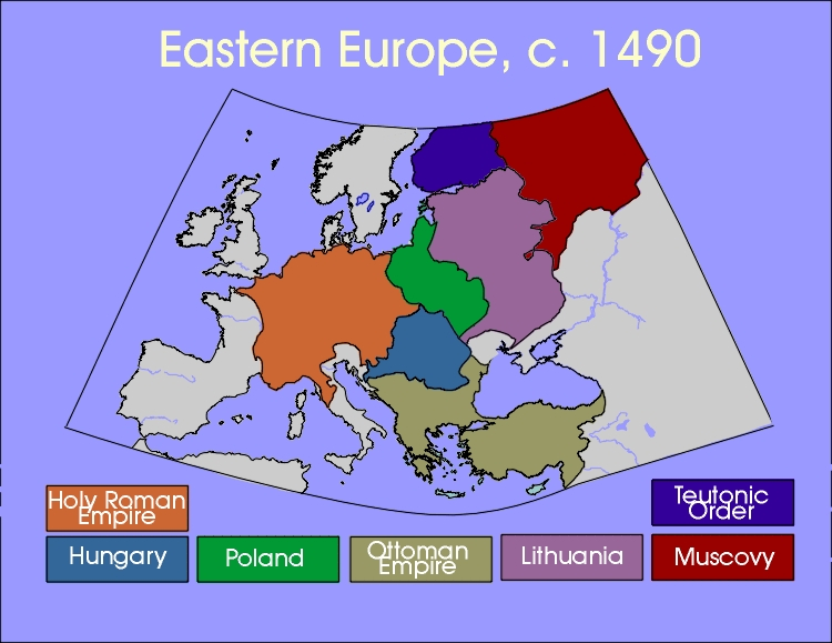 Eastern Europe Map Circa 1490
