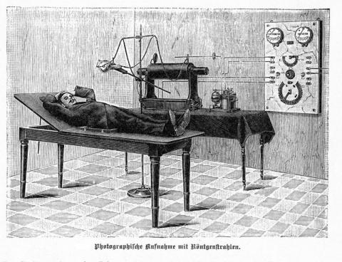 Early X-Ray Machine with Induction Coil Education American History Famous Historical Events