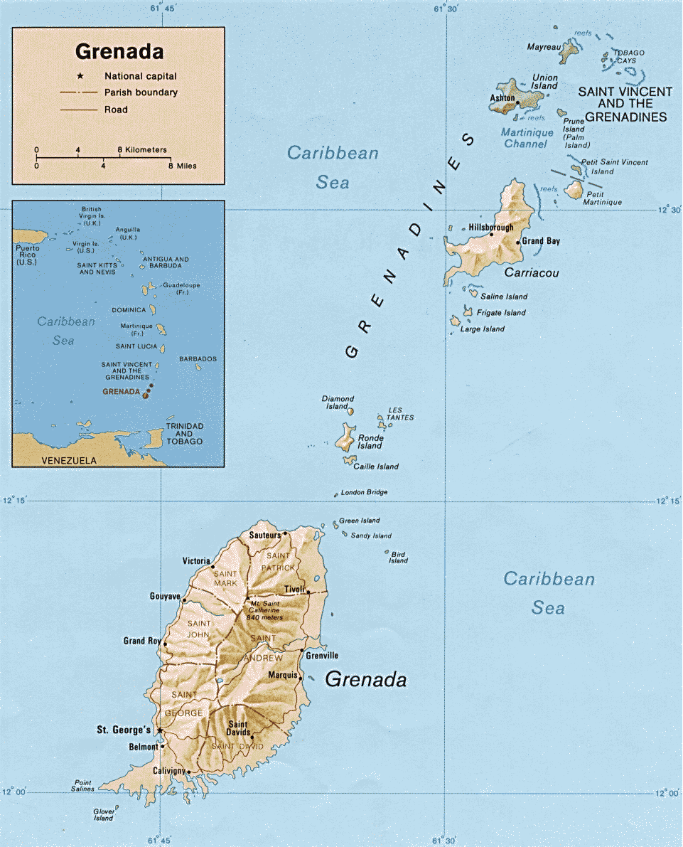 Map Of Caribbean Island - Caribbean island map