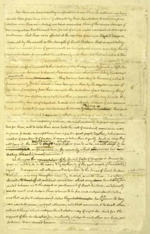 Declaration of Independence, 4th Page of Manuscript