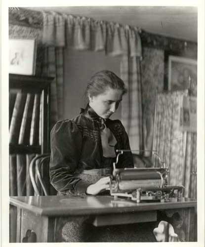 Helen Keller Radcliffe Student 1900