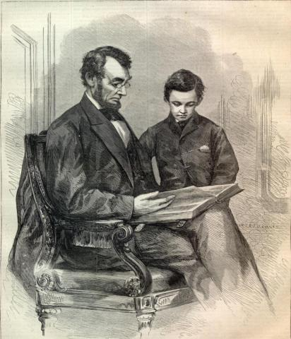 Abe Lincoln with His Son Tad American Presidents American History Social Studies Nineteenth Century Life