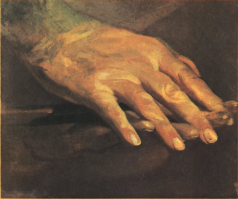 Beethoven's hands as they appeared after his death