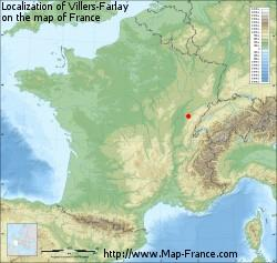 Location of Villers-Farley in France Geography