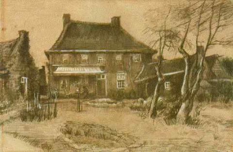 Nuenen Vicarage - Vincent's Drawing Geography Social Studies Tragedies and Triumphs Visual Arts Nineteenth Century Life