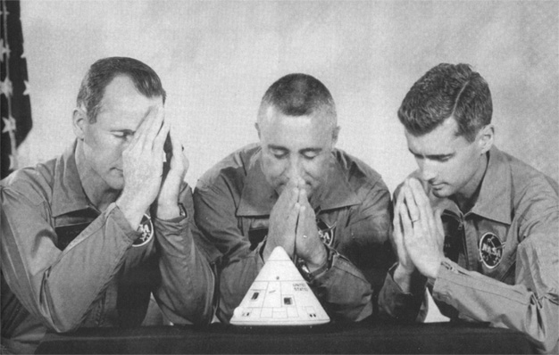 Apollo 1 Crewmembers: Ed White, Gus Grissom and Roger Chaffee