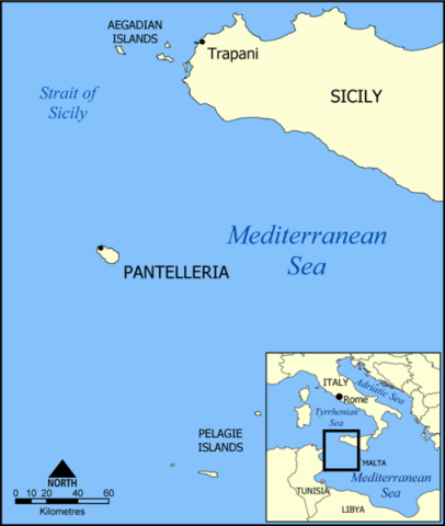 Pantelleria - Map Locator Ethics American History Geography Aviation & Space Exploration Tragedies and Triumphs World War II