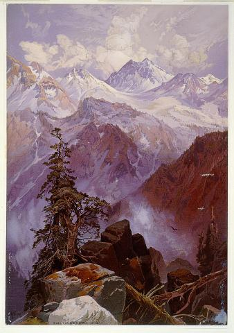 Summit of the Sierras -  by Thomas Moran Disasters Geography Visual Arts