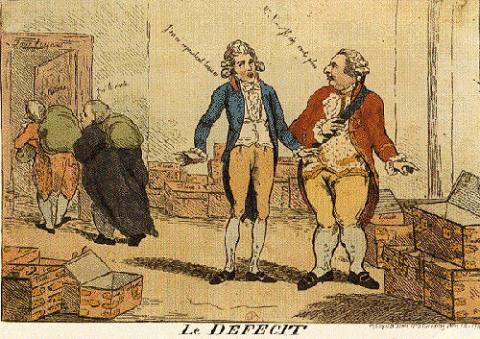 Le Defecit - 1788 Cartoon Government World History Social Studies