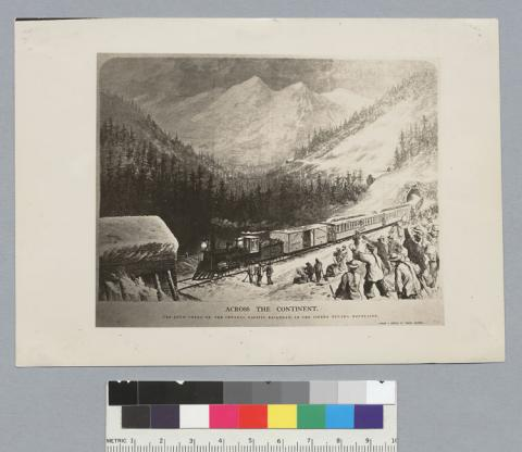 Railroad in the Sierra Nevada Mountains Visual Arts American History Geography Nineteenth Century Life