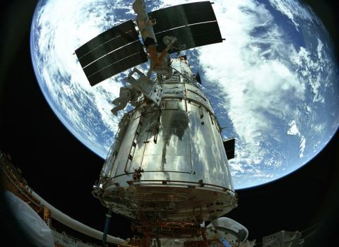 Hubble Telescope - Seen from Above Astronomy Education American History Social Studies Aviation & Space Exploration STEM Visual Arts