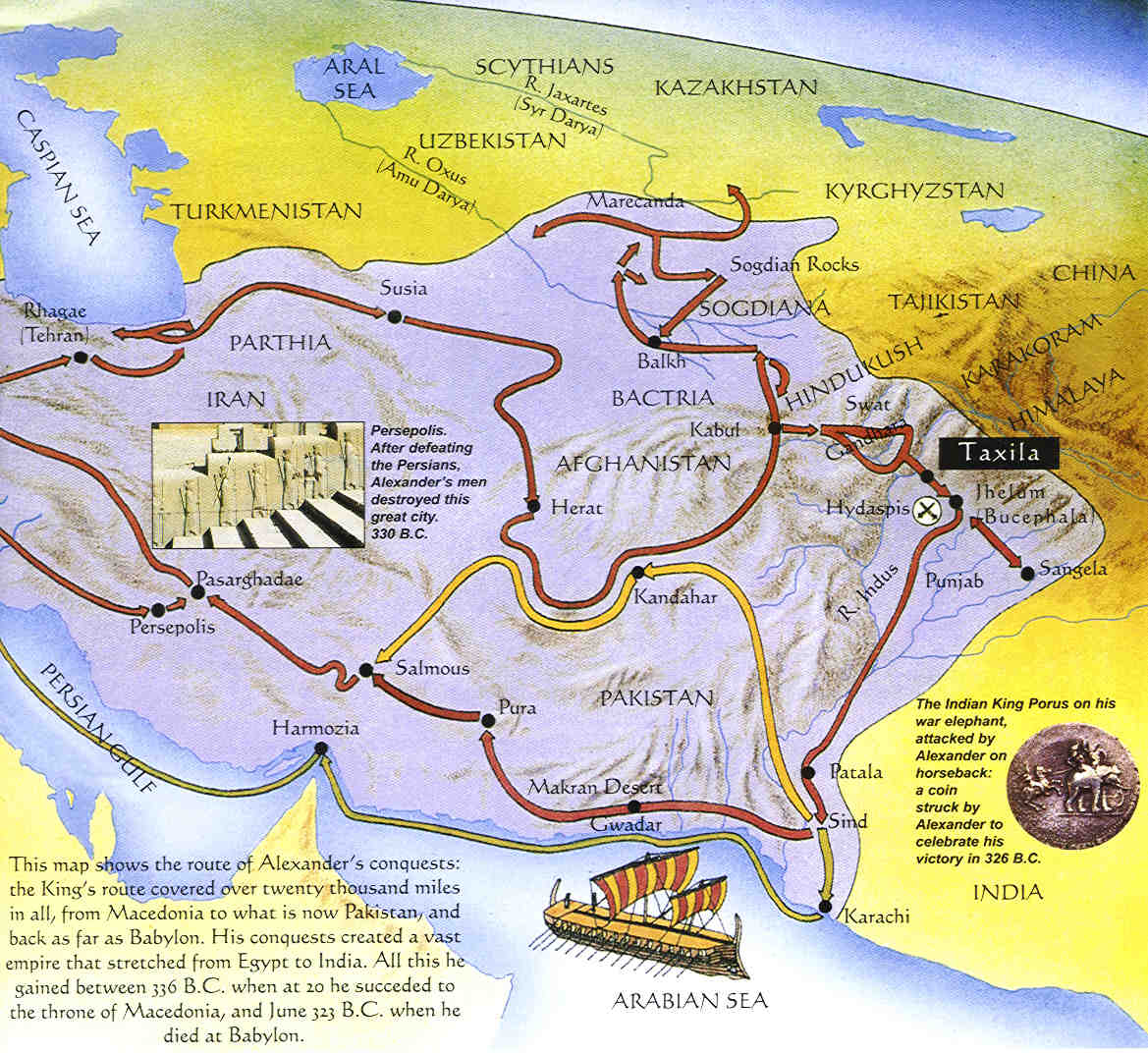 alexander the great map route