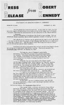 January 31, 1966 Press Release - Robert Kennedy