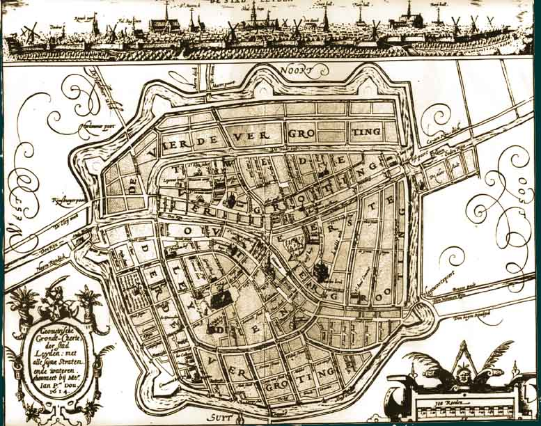Leiden Map at Time of Pilgrims Residence
