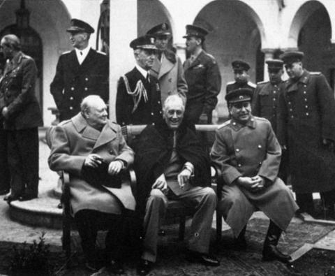 Yalta Meeting - Stalin, Churchill and Roosevelt Visual Arts Famous Historical Events World War II American Presidents Russian Studies American History World History
