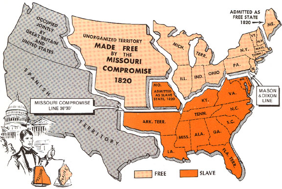 When People In Missouri Wanted To Become Part Of The United States In 1820 They Wanted To Enter The Union As A Slave State Were That To Happen