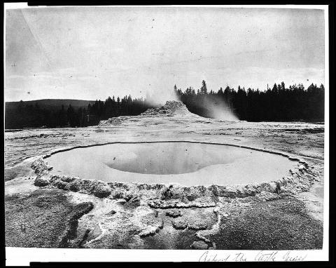 Crater of the Castle Geyser - by William Henry Jackson Visual Arts Geography