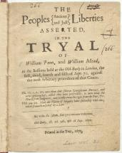 William Penn:  Tried for Sedition