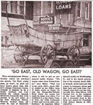 News Article about a Conestoga Wagon