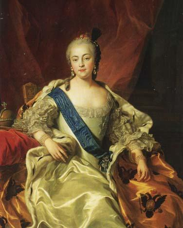 Portrait of Elizabeth - Daughter of Peter the Great Visual Arts Famous People Philosophy Social Studies