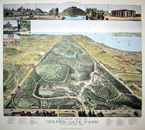 Golden Gate Park - 1892 Geography Social Studies Tragedies and Triumphs Visual Arts American History