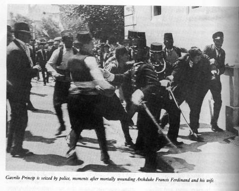 Princip Seized by Police Famous Historical Events Social Studies World History World War I Tragedies and Triumphs