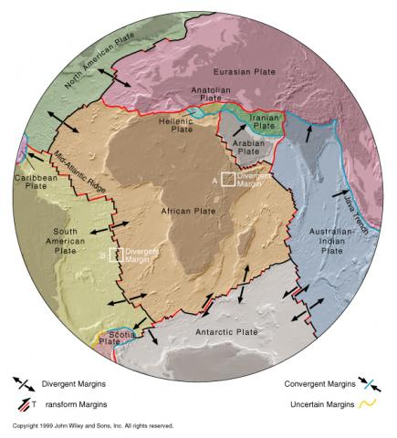 Divergent and Convergent Tectonic Plates Geography STEM