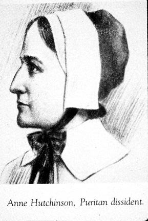 Anne Hutchinson arrives in the New World