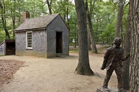 Walden Pond - Replica of Thoreau's Cabin Geography Famous Historical Events American History Philosophy Social Studies Nineteenth Century Life
