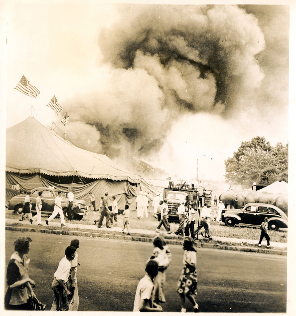 Hartford Circus Fire - Smoke at the Tent Tragedies and Triumphs American History Disasters Famous Historical
