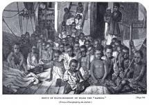African Children Rescued From a Slave Ship