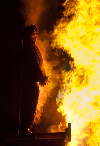 Guy Fawkes Effigy Bonfire