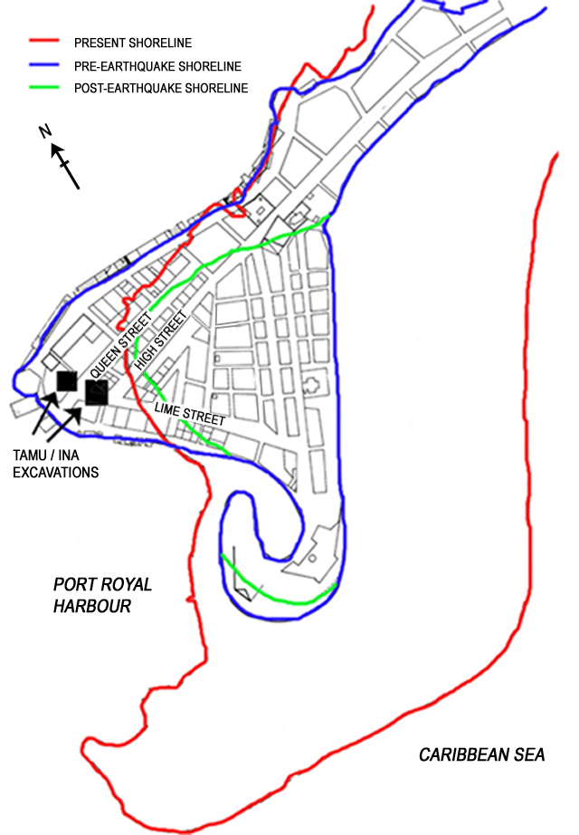Port Royal Detail Before And After The Earthquake