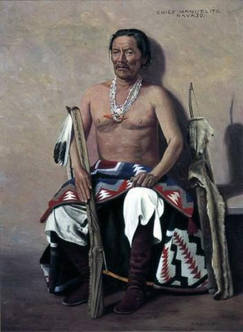 Navajo Head Chief - Manuelito Native-Americans and First Peoples  Visual Arts