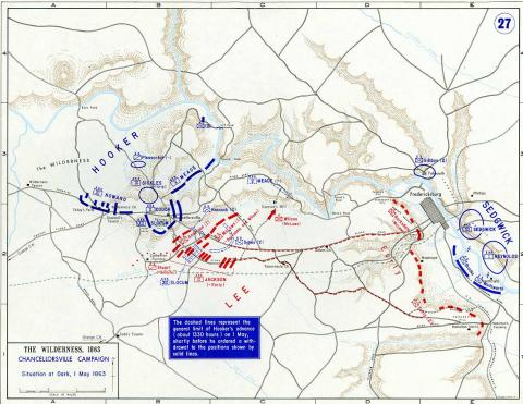 Map of Chancellorsville Campaign - 2 American History Civil Wars Famous Historical Events Famous People Tragedies and Triumphs Geography