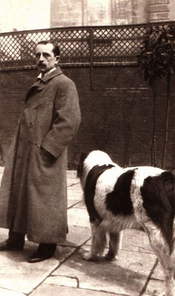 photo of j m barrie with his dog luath