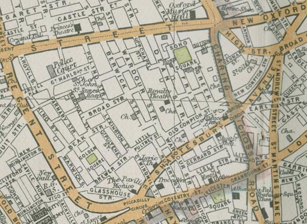 Map Soho London.Location Of Soho In London