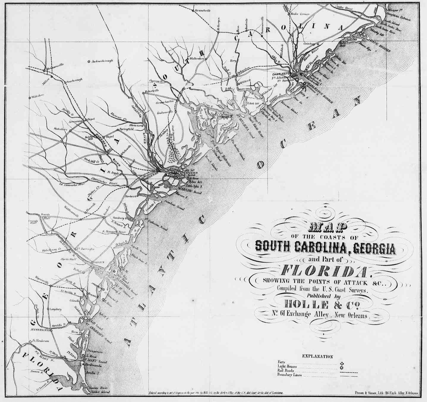 Civil War Era - South Carolina, Georgia and Florida Coasts