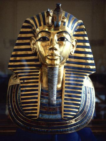 King Tut's Death Mask and Its Meaning (Illustration) Ancient Places and/or Civilizations Social Studies Famous People Visual Arts